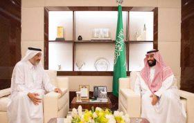 نائب خادم الحرمين الشريفين يستقبل سمو الشيخ عبدالله بن على بن عبدالله  – اخبار السعودية